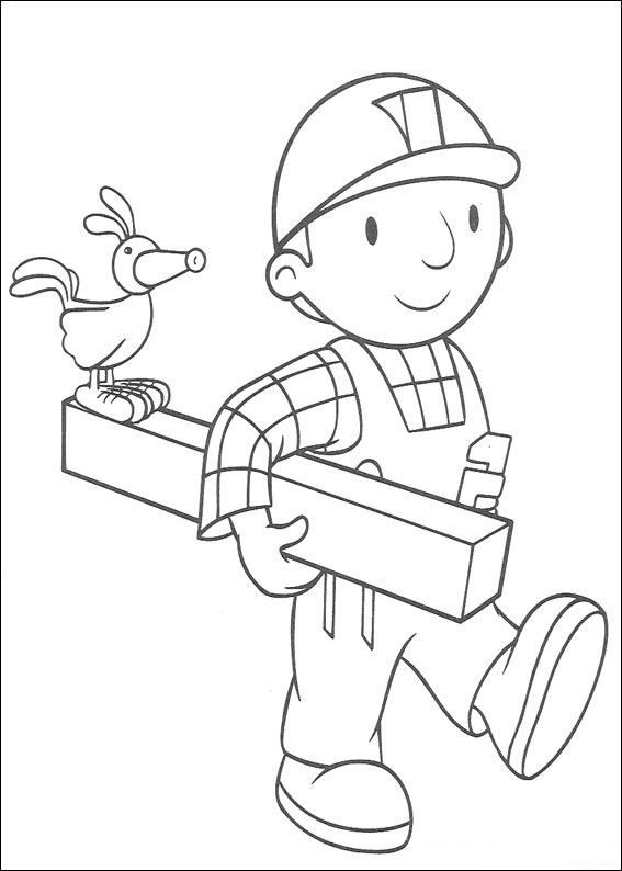 coloring page bob the builder bob the builder on kids n funco
