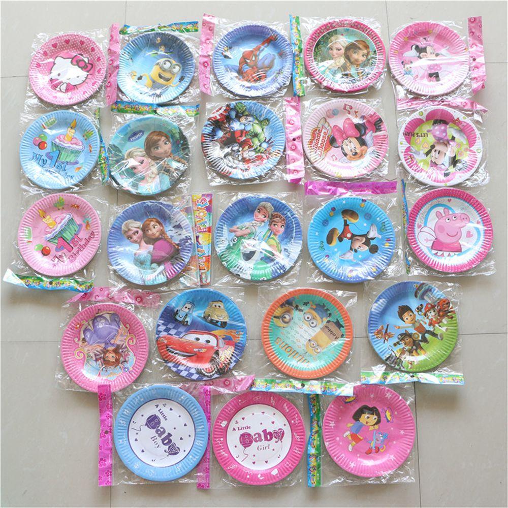 12pcs/lot disposable paper plates/dish 7''inch party decoration ...
