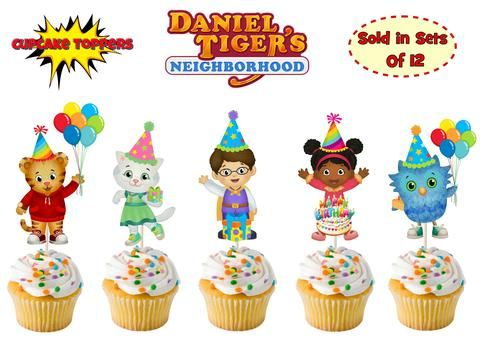 Inspired Personalize Daniel Tiger Cupcake Toppers 12