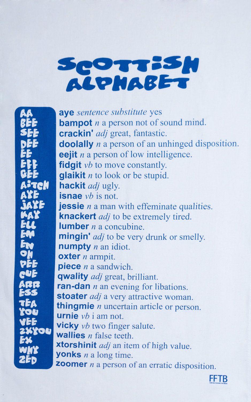scottish vocabulary lesson gaelic alphabet pinterest
