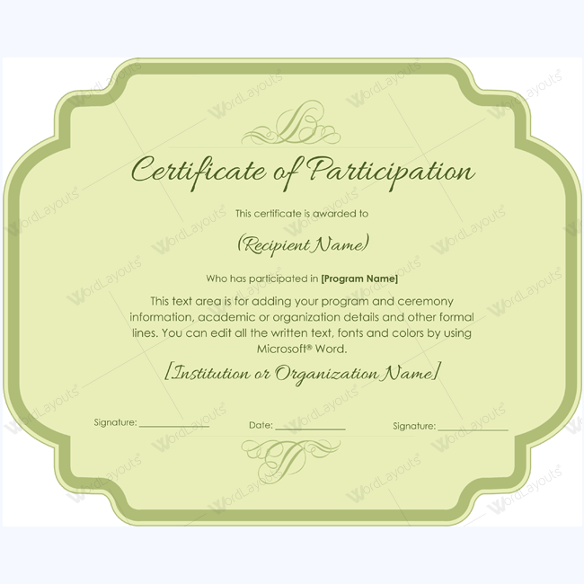 Spelling Bee Participation Certificate Templates #Certificate