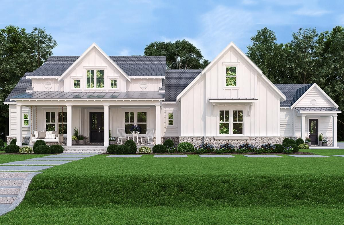 House Plan 4195 00032 Modern Farmhouse Plan 2 484 Square Feet 3 Bedrooms 3 5 Bathrooms Farmhouse Style House Craftsman House Plans Farmhouse Style House Plans