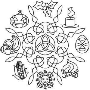 Wheel Of The Year Coloring Page Lots Of Pagan Mandalas