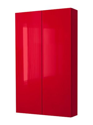 Furniture, Captivating Ikea Bathroom Wall Cabinet Red Bathroom ...