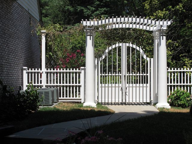 custom arbor and fence with gate IMG_1764 by Gregs Landscaping, via Flickr
