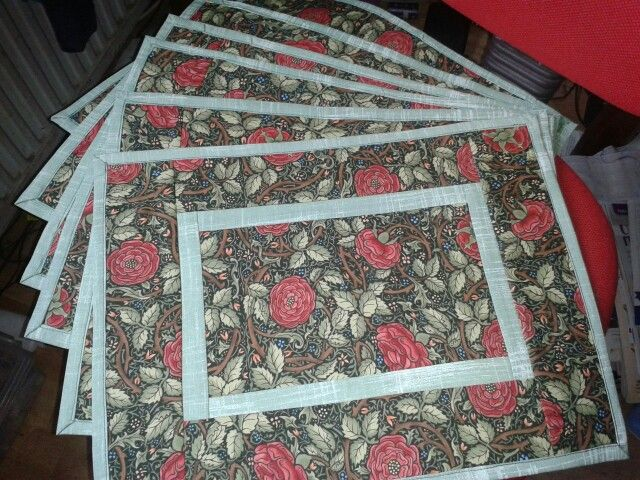 A Set Of Quilt As You Go Placemats Mug Rugs Table Runners