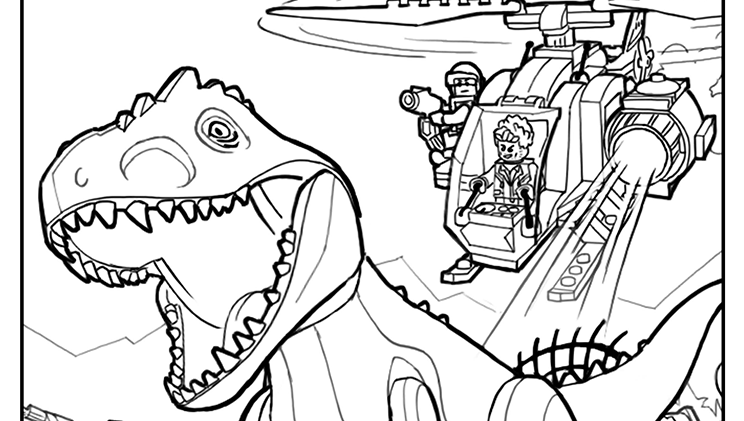 Coloring Page 1 Coloring Pages Activities Lego Coloring Pages Lego Jurassic World Lego Coloring