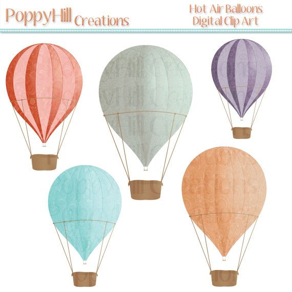 picture about Printable Hot Air Balloon named INSTAND Down load - Warm Air Balloons Printable Electronic Clip