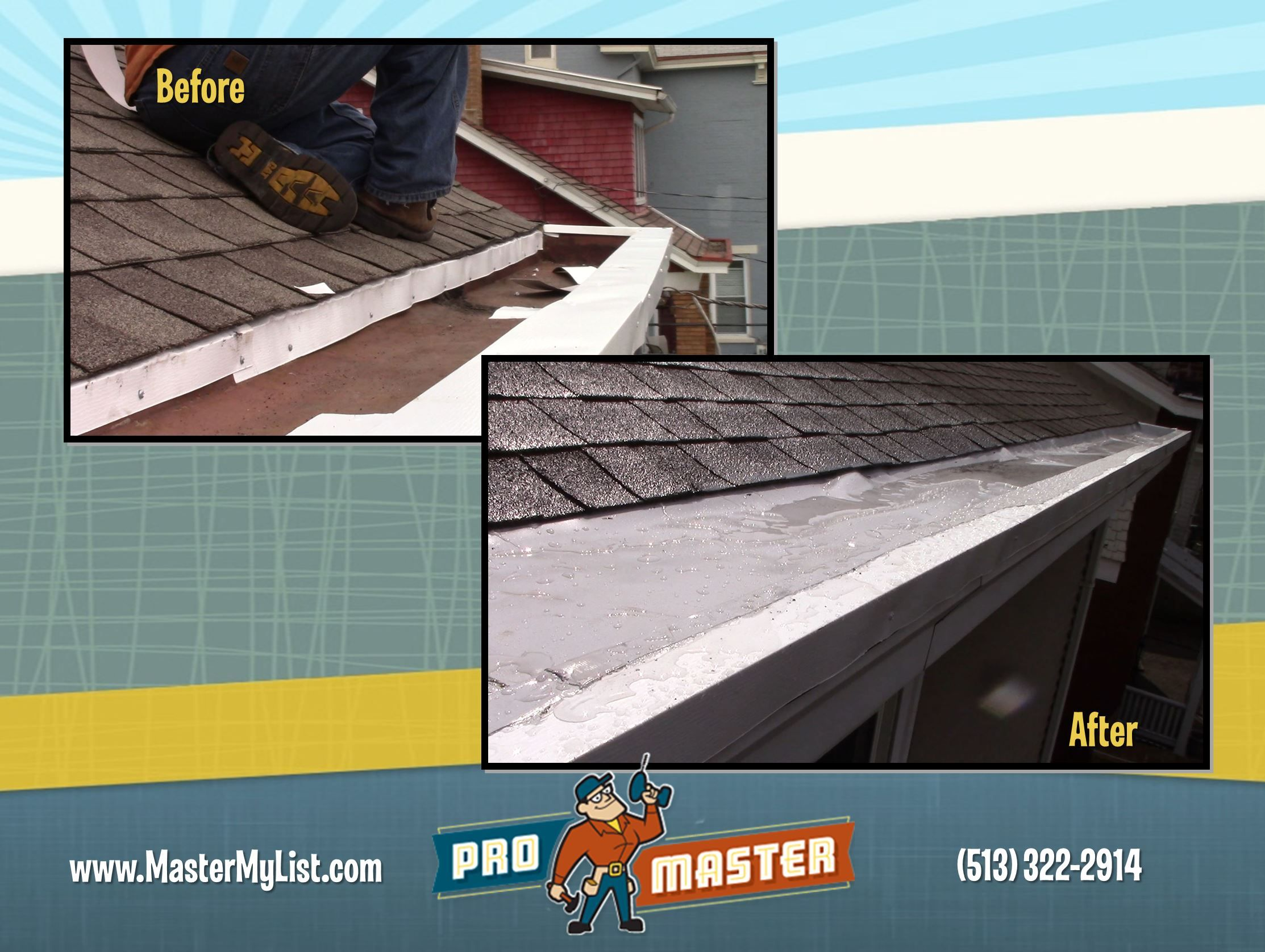 The Material You Line Your Box Gutters With Is More Important Than You Think As Cincinnati S Premiere Home Repair Company Box Gutter Gutter Repair Diy Gutters