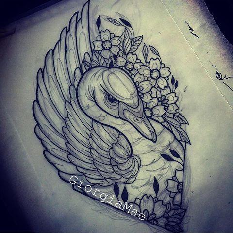 Afbeeldingsresultaat Voor Neo Traditional Black Swan Tattoo Tattoo