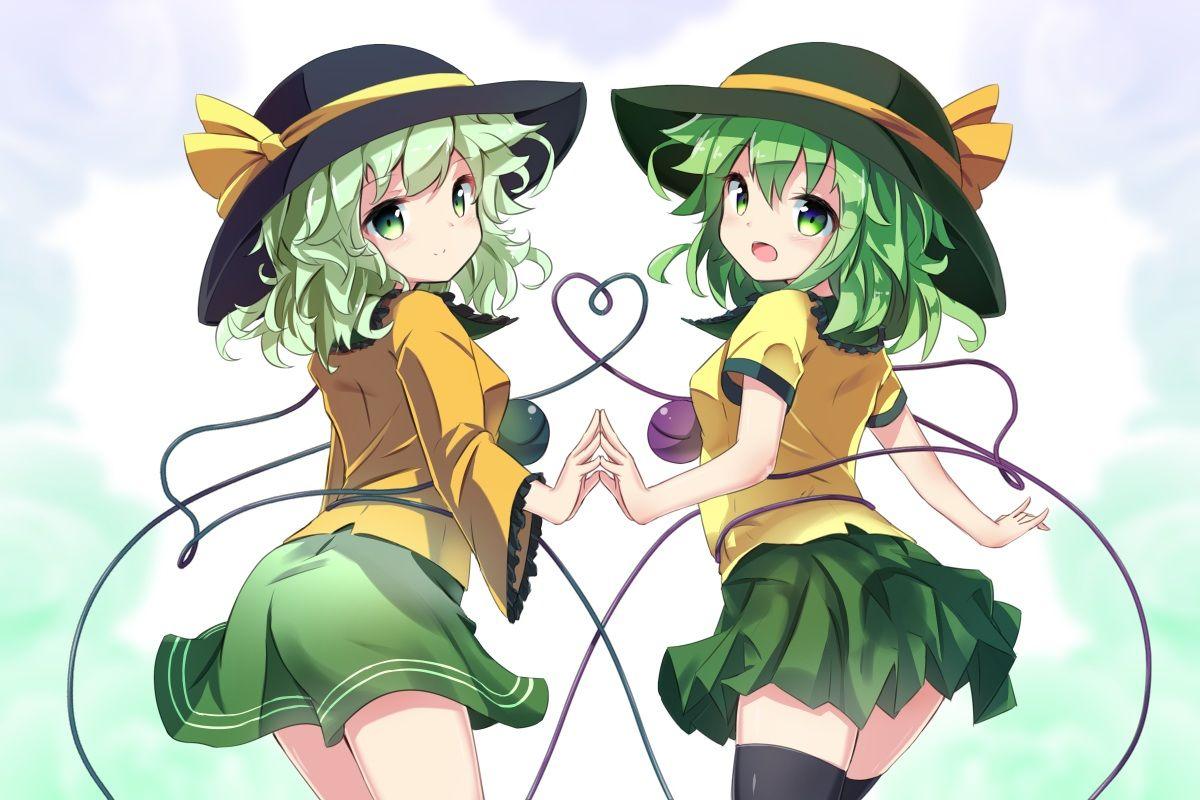Green Eyes Green Hair Hat Komeiji Koishi Ryougo Short Hair Skirt