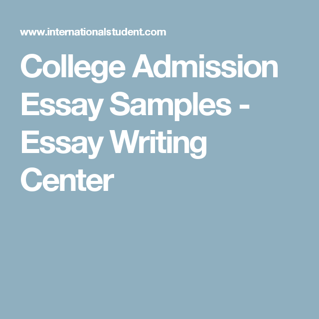 College admissions essay help of an influential person