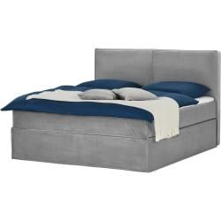 Boxspring bed Boxi gray gray Size (cm): W: 180 H: 125 Beds> Boxspring beds> Boxspring beds 180x