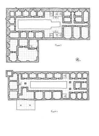 Auberge d 39 orona floor 2 3 coaching inn rpg map floor for Floor 2 dungeon map