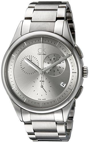 Calvin Klein Herren-Armbanduhr Analog Quarz Edelstahl K2A27920