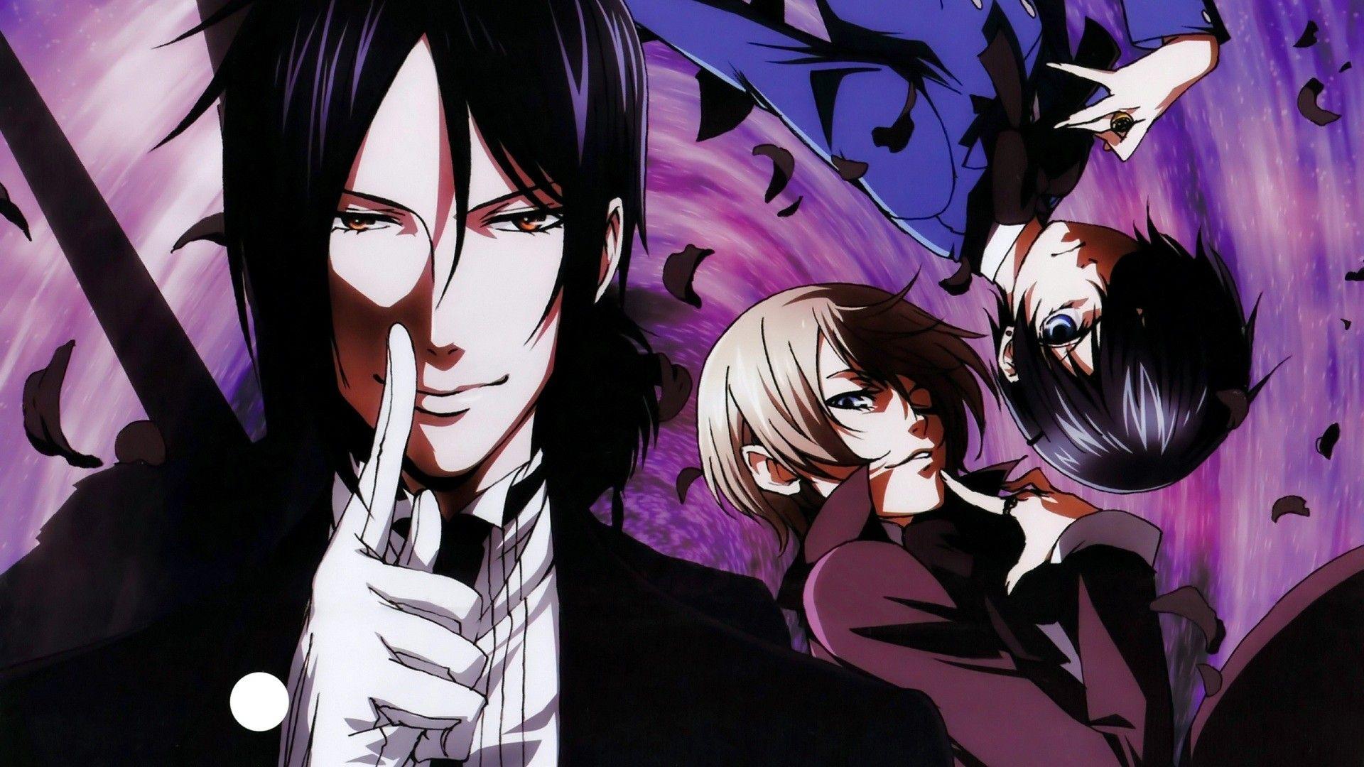Sebastian With Ciel And Alois