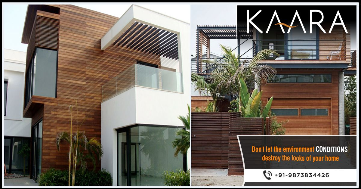 Shield your home against environmental conditions with Outdoor Cladding from KAARA and give it a trendy appeal. To buy, call us at +91-9873834426 OR mail your details at contact@kaaradecor.com. #cladding #Decking #Pargola #Trellis #outdoordecor #outdoorhomedecor #outdoordecordesign #HomeDecoration #claddingDesign #kaara #Kaaradecor