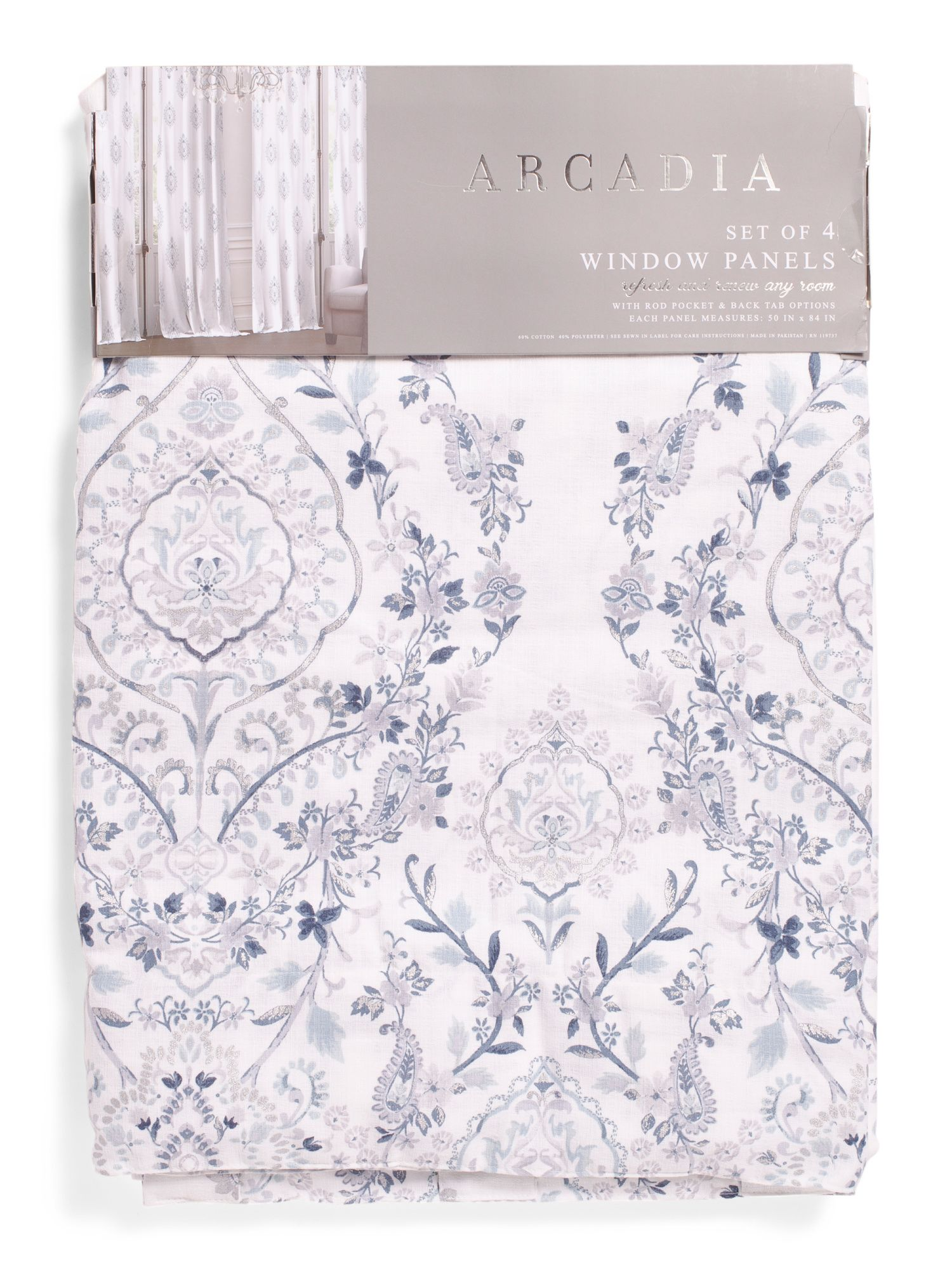 50x84 Set Of 4 Nabihah Linen Look Curtains Curtains Linen