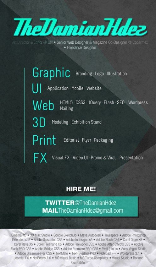 Featured Below Are Some Creative Resume Designs Crafted By Different  Designers.