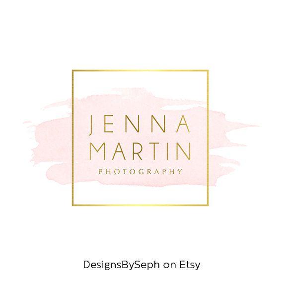 Des création de Logo & Photo filigrane - aquarelle logo - en-tête de Blog - site Logo - Logo or - carré filigrane - photographie Logo 762