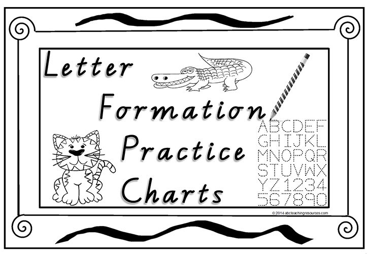 Font Option Foundation Handwriting Letter Formation Practice