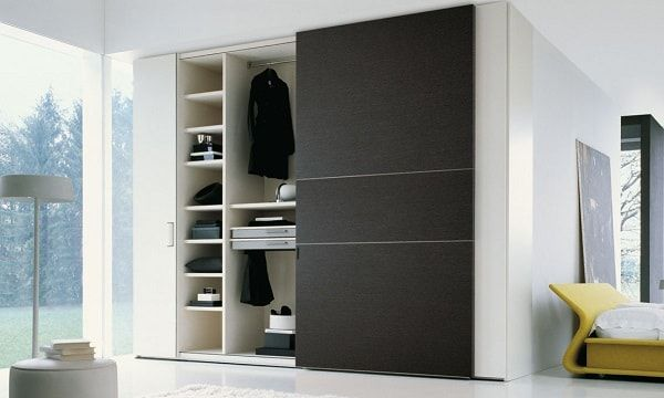 This is  two door slider wardrobe that has combined the leather laminate finishe with high also rh pinterest