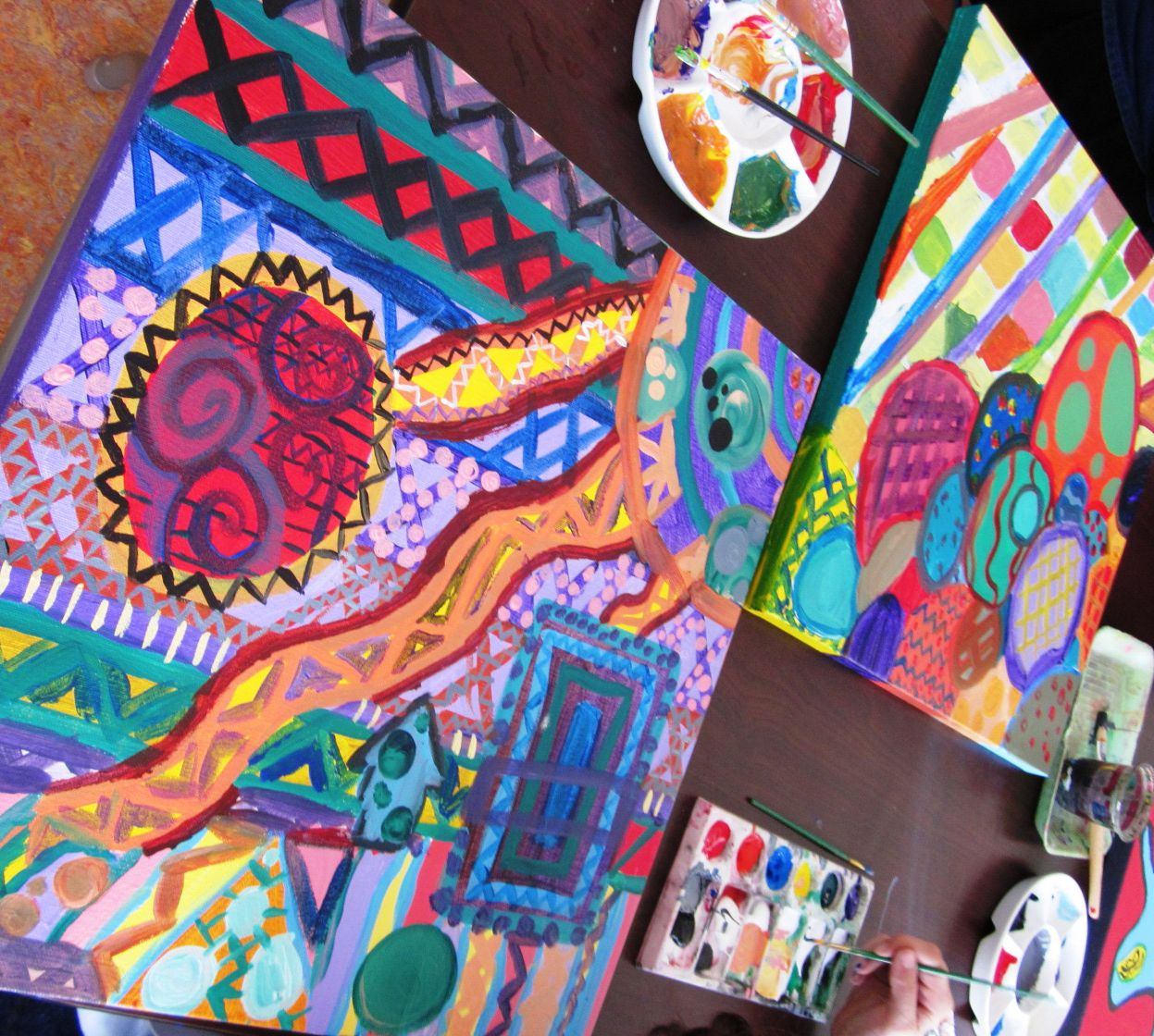 Abstract art in grade seven art lessons for