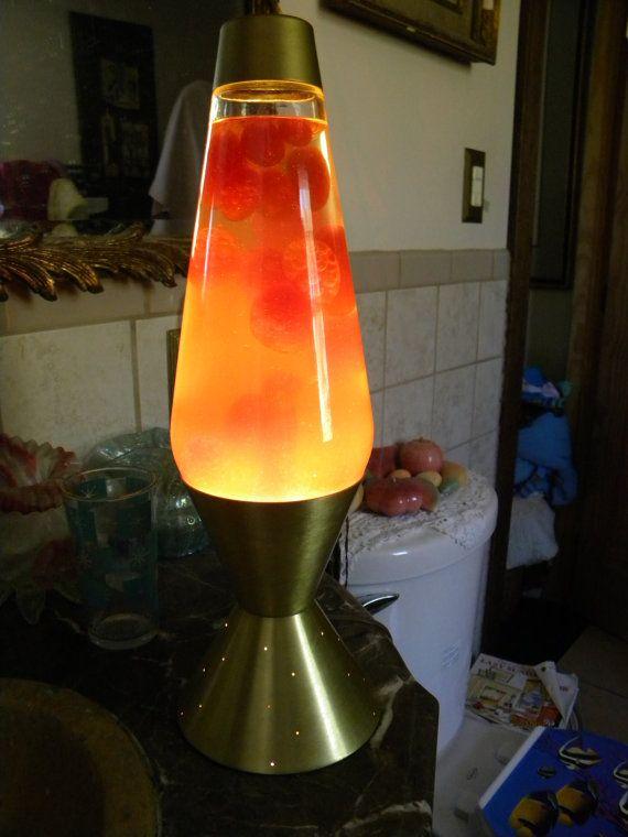 Old Lava Lamps 60s Cool Vintage 1970s Orange Mid Century Lava Lamp Lava Lamp Lamp Novelty Lamp