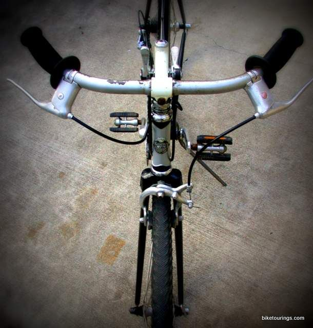 Picture Of Commuter Handlebars On Vintage Steel Lugged Road Bike