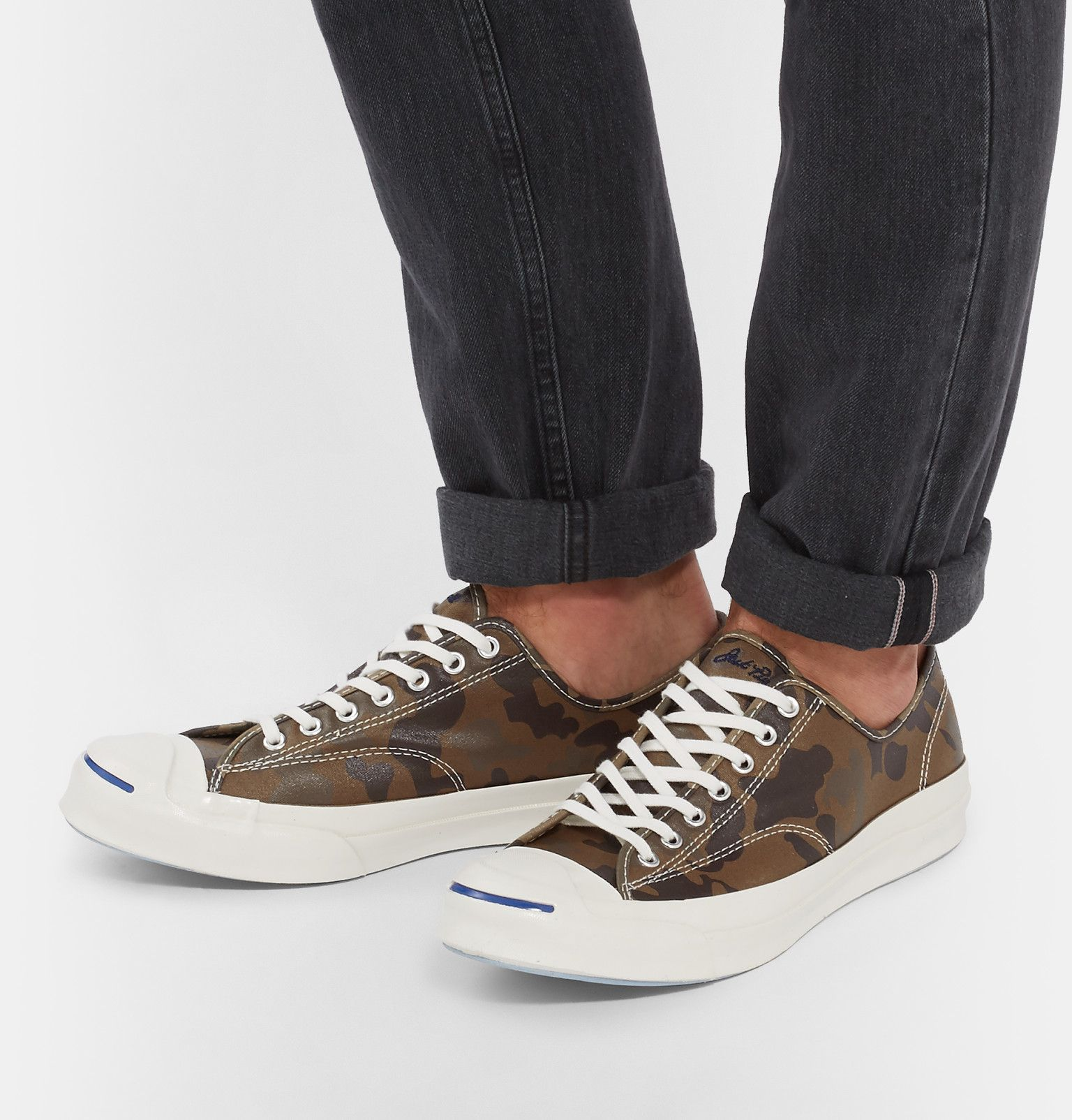 CONVERSE by JACK PURCELL - Sneakers - Men - Camo Brown Suede Sneakers