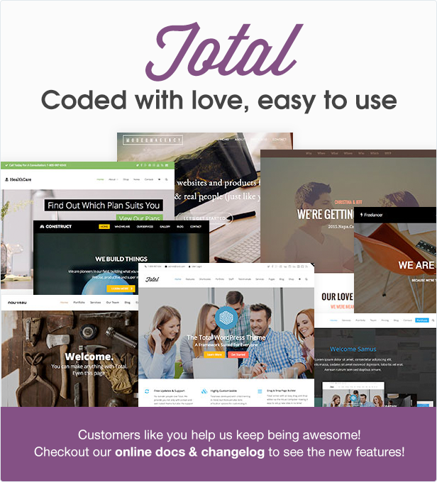 total wordpress theme coded with love garnet pinterest