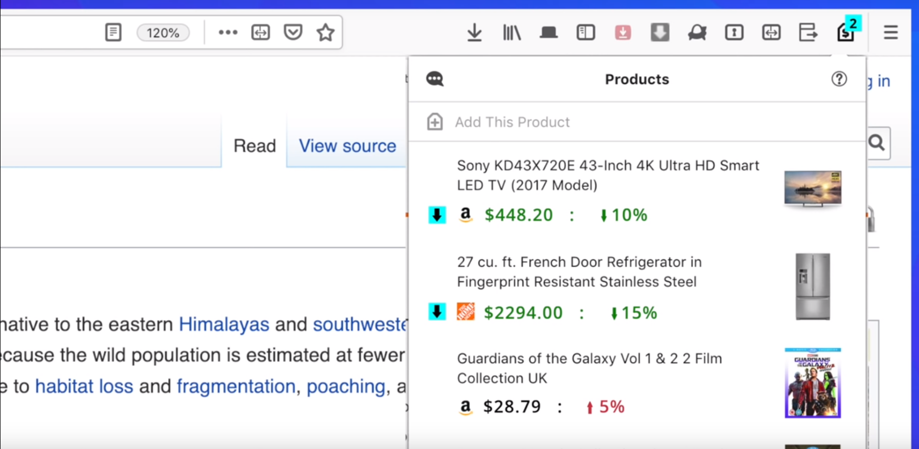 Firefox releases a new extension to track prices of products in