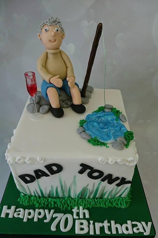 Fishing man cake