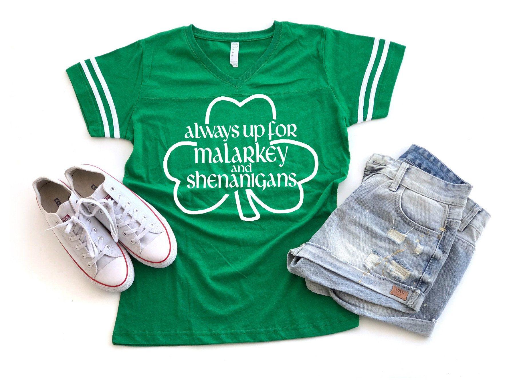 aab4a02879d Malarkey Shirt Womens St Patricks Day V Neck Shirt