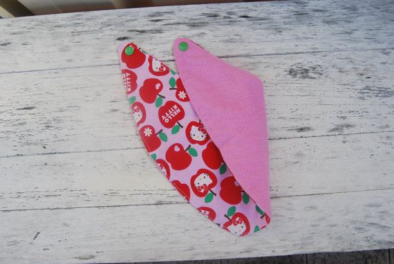 Reversable bandana triangle dribble bib Hello by OnePrettyPony