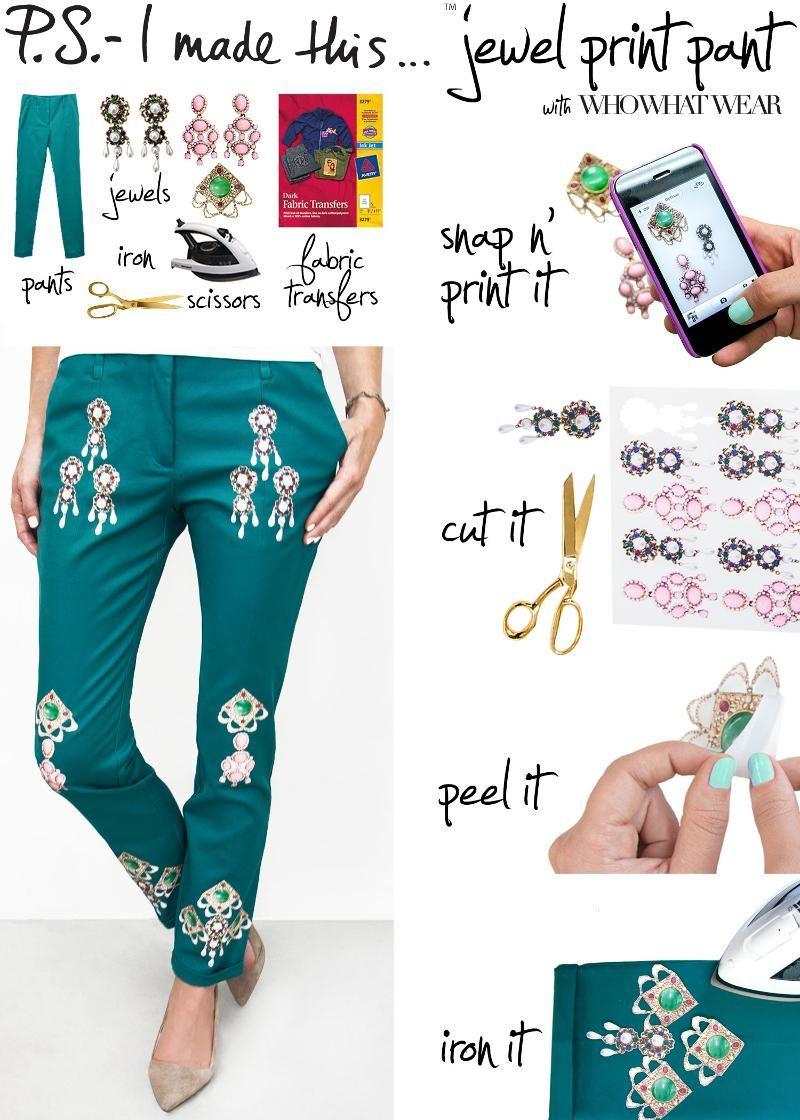 P.S.- I made this...Jewel Print Pant -
