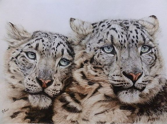 Tenderness: snow leopards- Maryse Louis