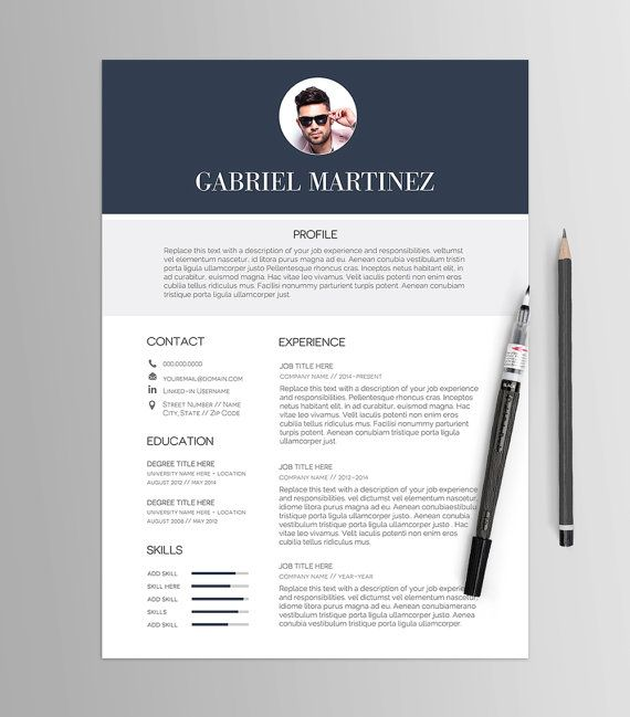 Rsum Template No   Stylized Cv  Cover Letter  Job Search