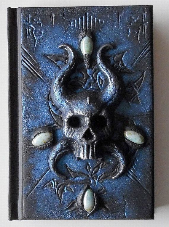Skull viking helmet polymer clay journal notebook by ClaymanPL