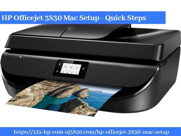Hp Officejet 3830 Mac Setup Quick Steps Hp Officejet Wireless Printer Mac Setup