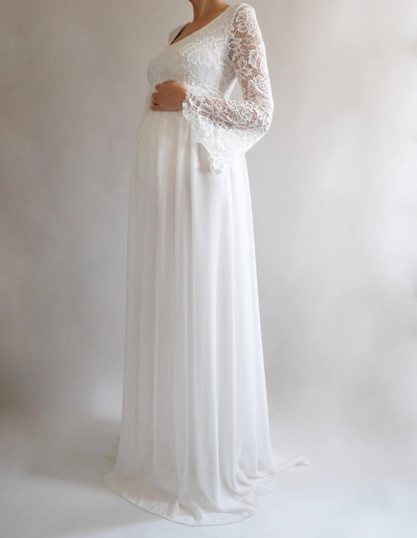 4ee8b13725 MARGARET Lace Maternity Dress for Baby Shower Boho Wedding