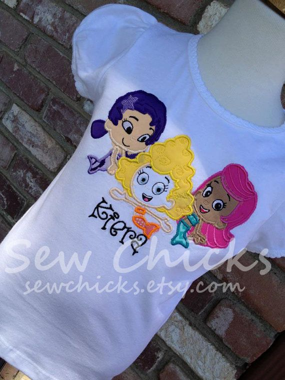 Bubble Guppies Girls or Boys Shirt Trio by SewChicks on Etsy, $31.00