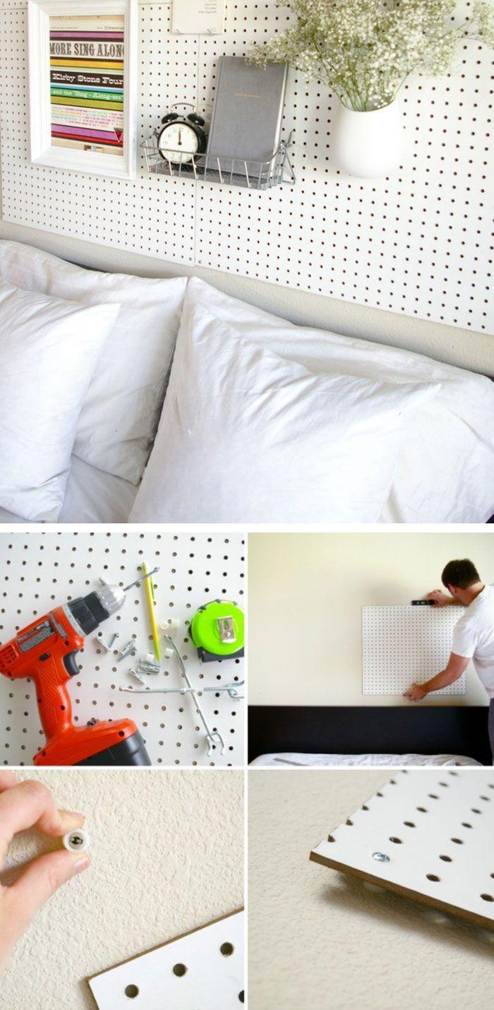 Pegboard Headboard | DIY Home Decor Ideas on a Budget | DIY Home ...
