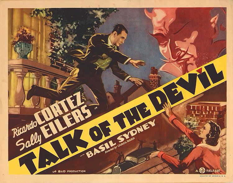 Lobby Card from film Talk Of The Devil