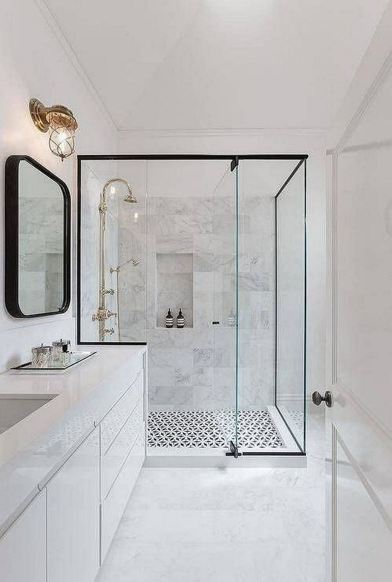 Elegant And Modern Bathroom Shower Tile Master Bath Ideas 30