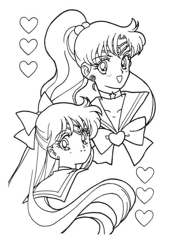 Sailor Moon Series Coloring Pages Sailors Jupiter And Venus Sailor Moon Coloring Pages Sailor Moon Crafts Sailor Moon Art