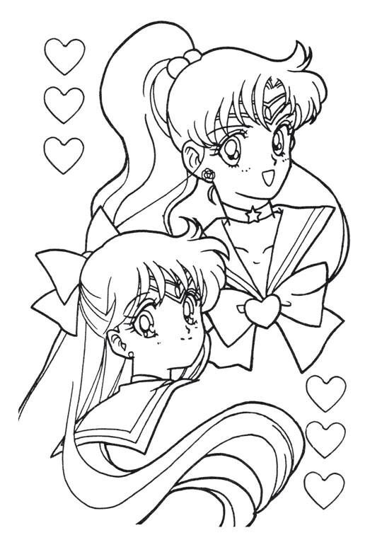 Sailor Moon Series Coloring Pages Sailors Jupiter And Venus