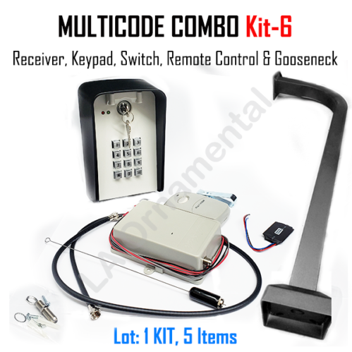 Multicode Kit 6 109950 Receiver 308911 Transmitter Keypad Switch Gooseneck In 2020 Transmitter Receiver Gooseneck