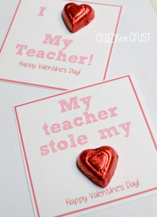 I Heart My Teacher Valentine Printable Crazy For Crust Valentines Printables Teacher Valentine Simple Valentines Gifts