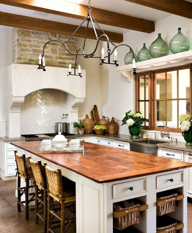 European Inspired Kitchen; Mark Lohman Photo, Via Luxe
